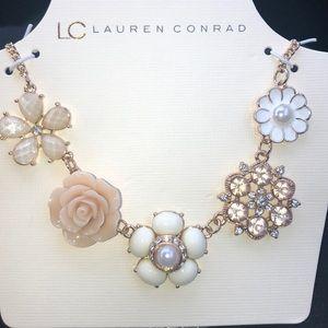 LC Lauren Conrad floral necklace
